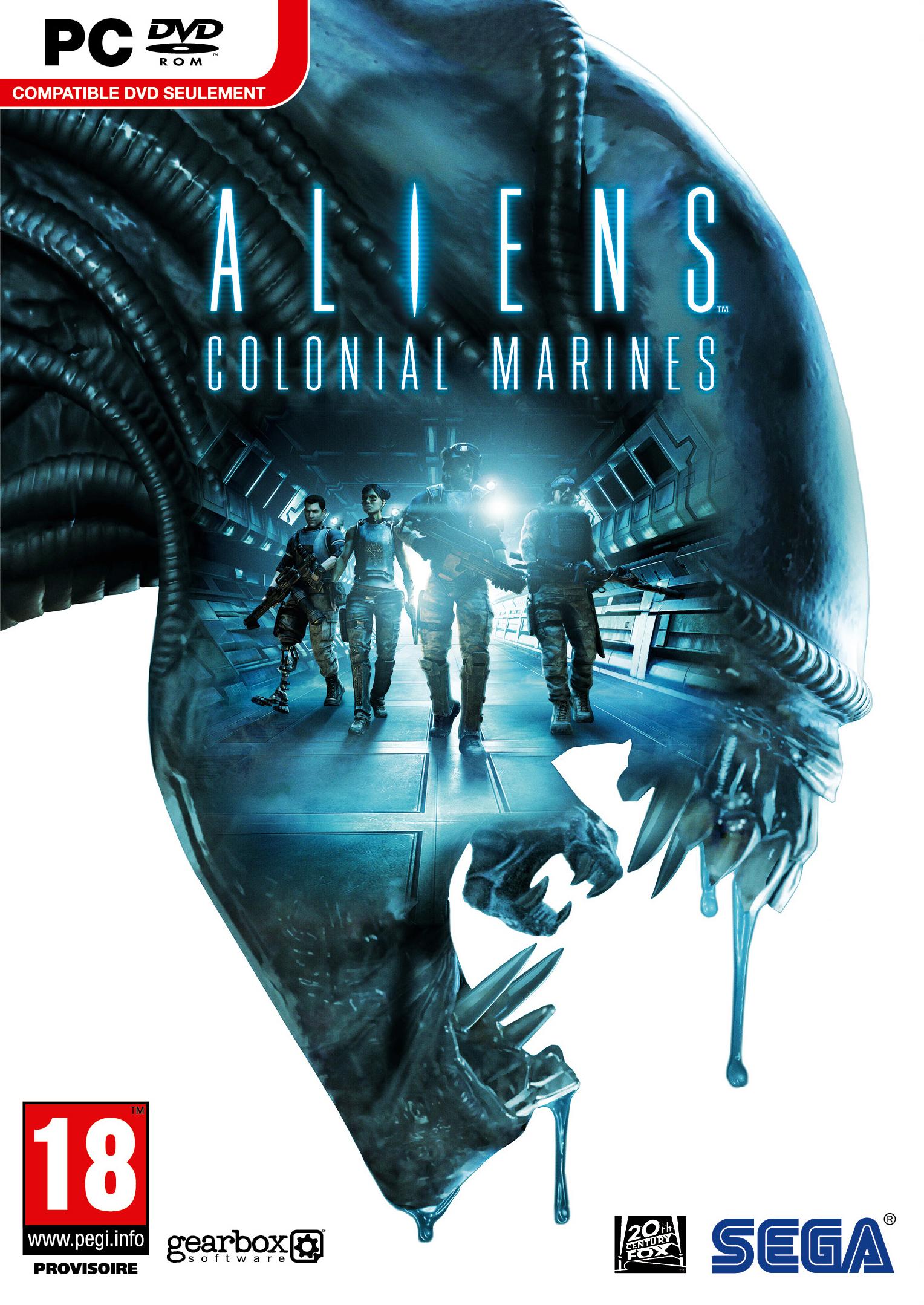 Aliens-ColonialMarines PC Jaquette 001