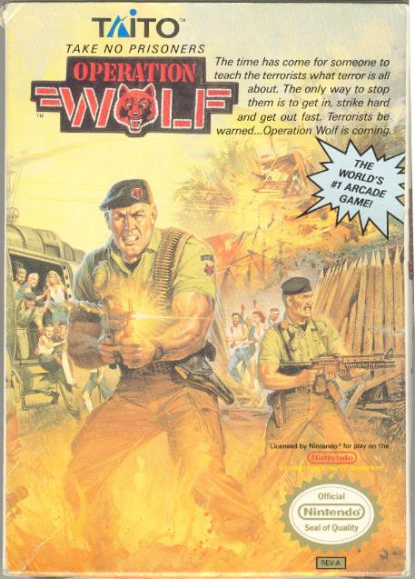 OperationWolf NES Jaquette
