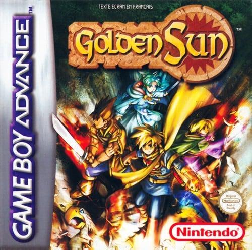GoldenSun GBA Jaquette