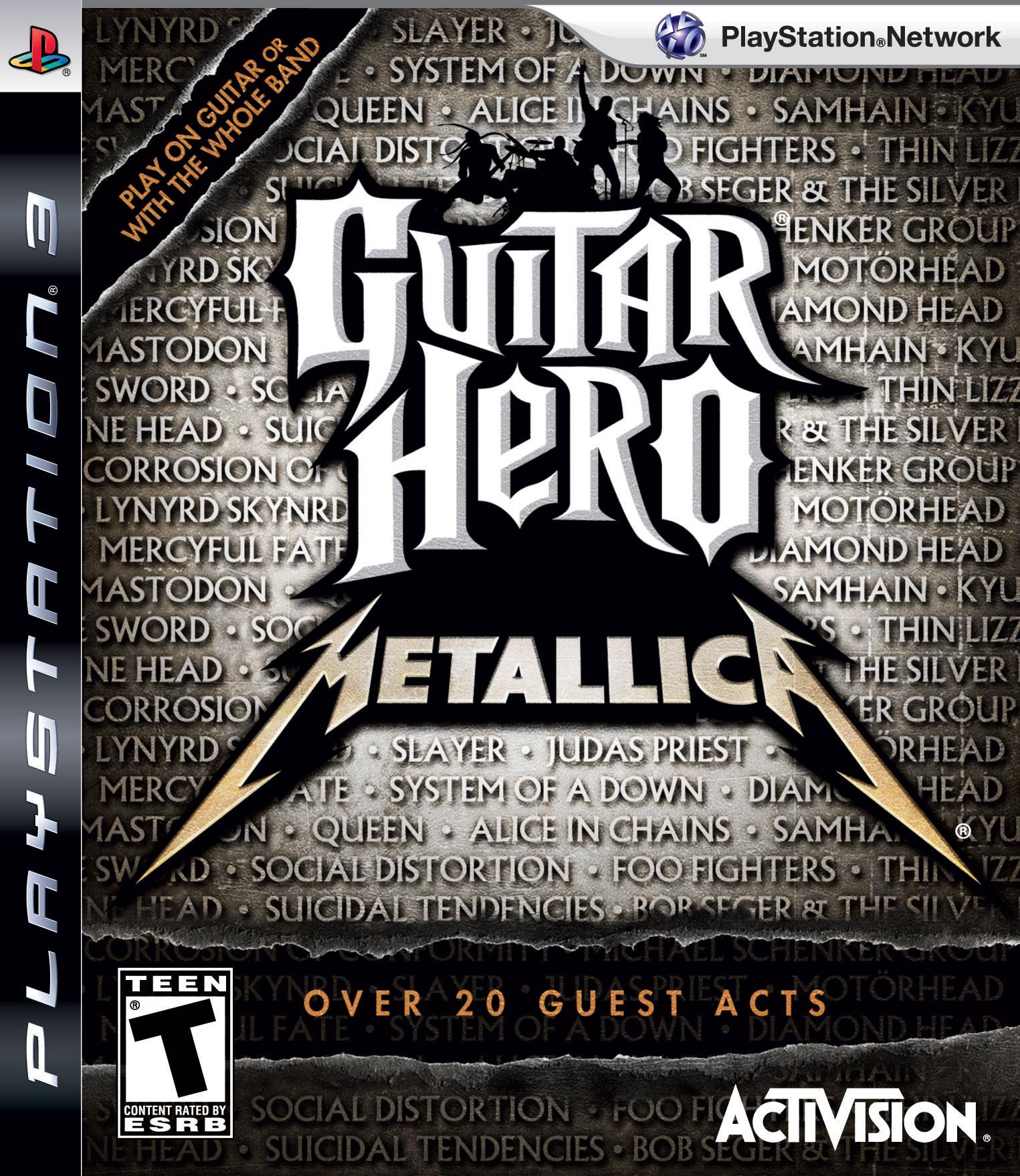GuitarHeroMetallica PS3 jaquette