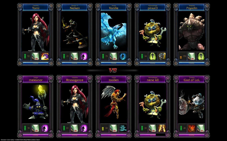 League of Legends PC Test 01