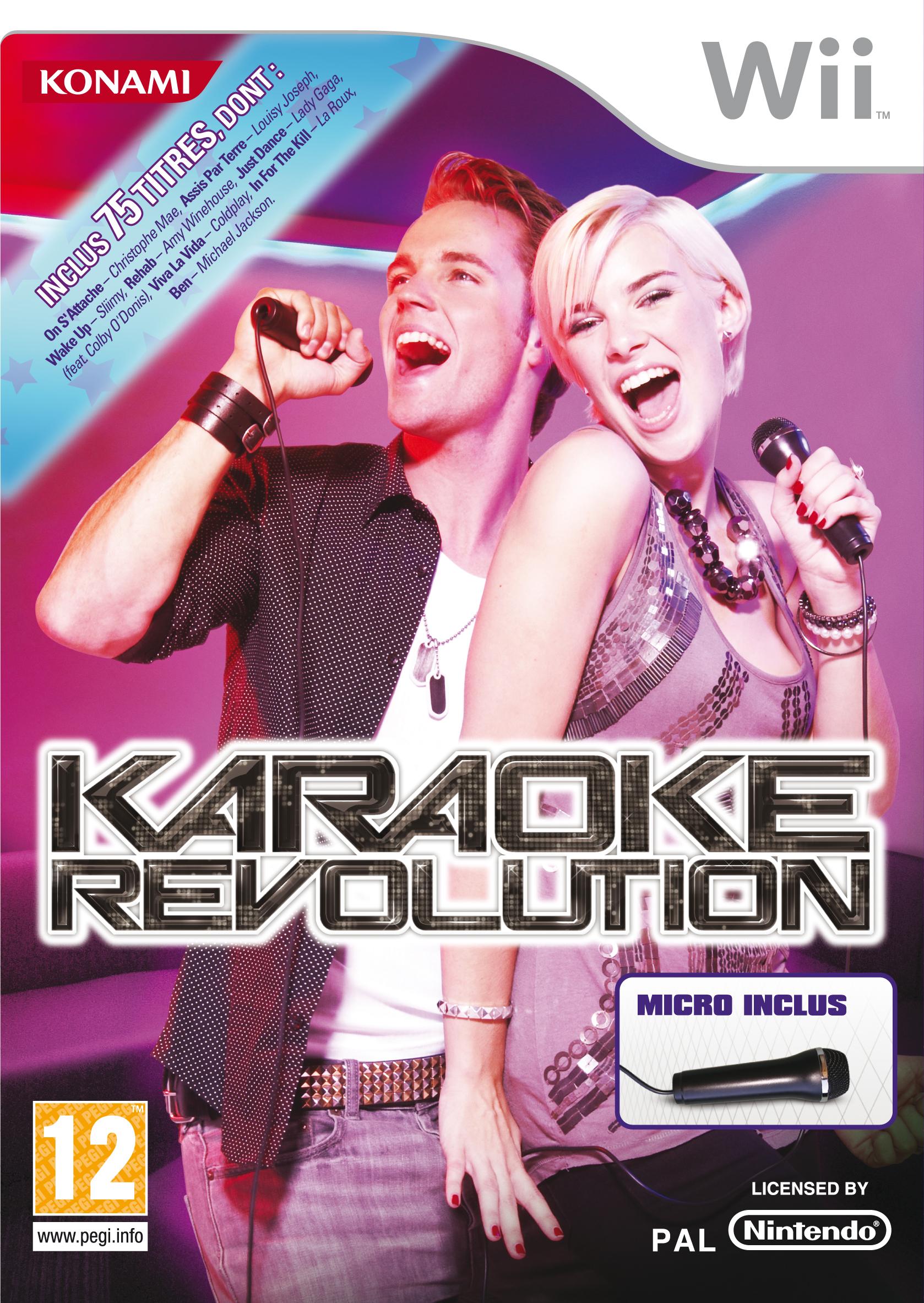 KaraokeRevolution Wii jaquette001