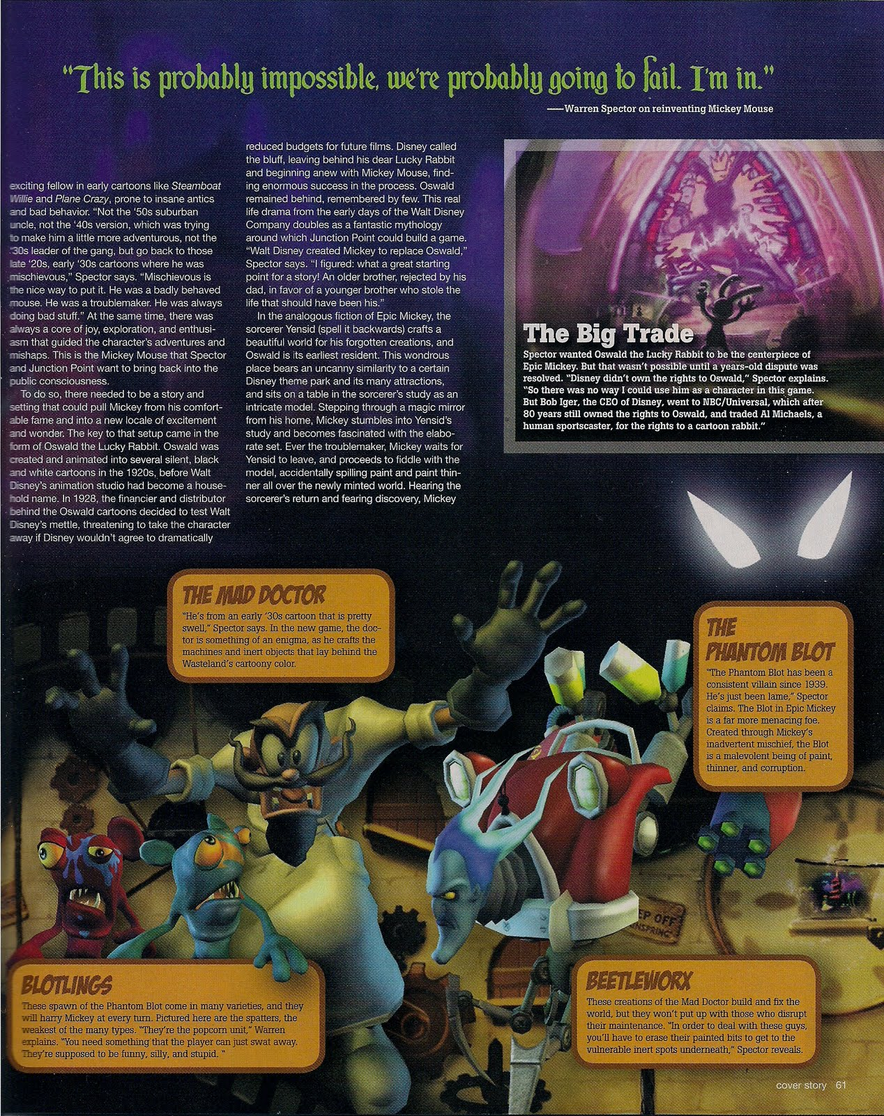 EpicMickey Scans GameInformer 05