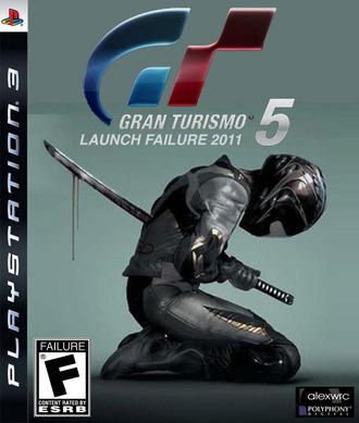 Gran Turismo 5 Lauch Failure jaquette