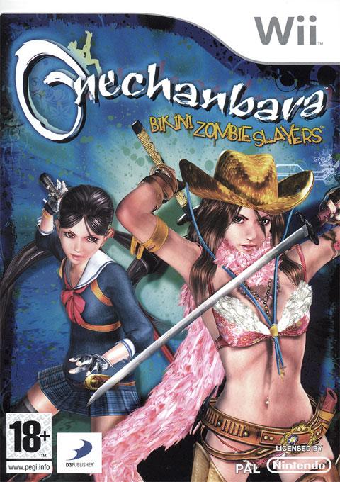 OneChanbaraBikiniZombieSlayers Wii Jaquette