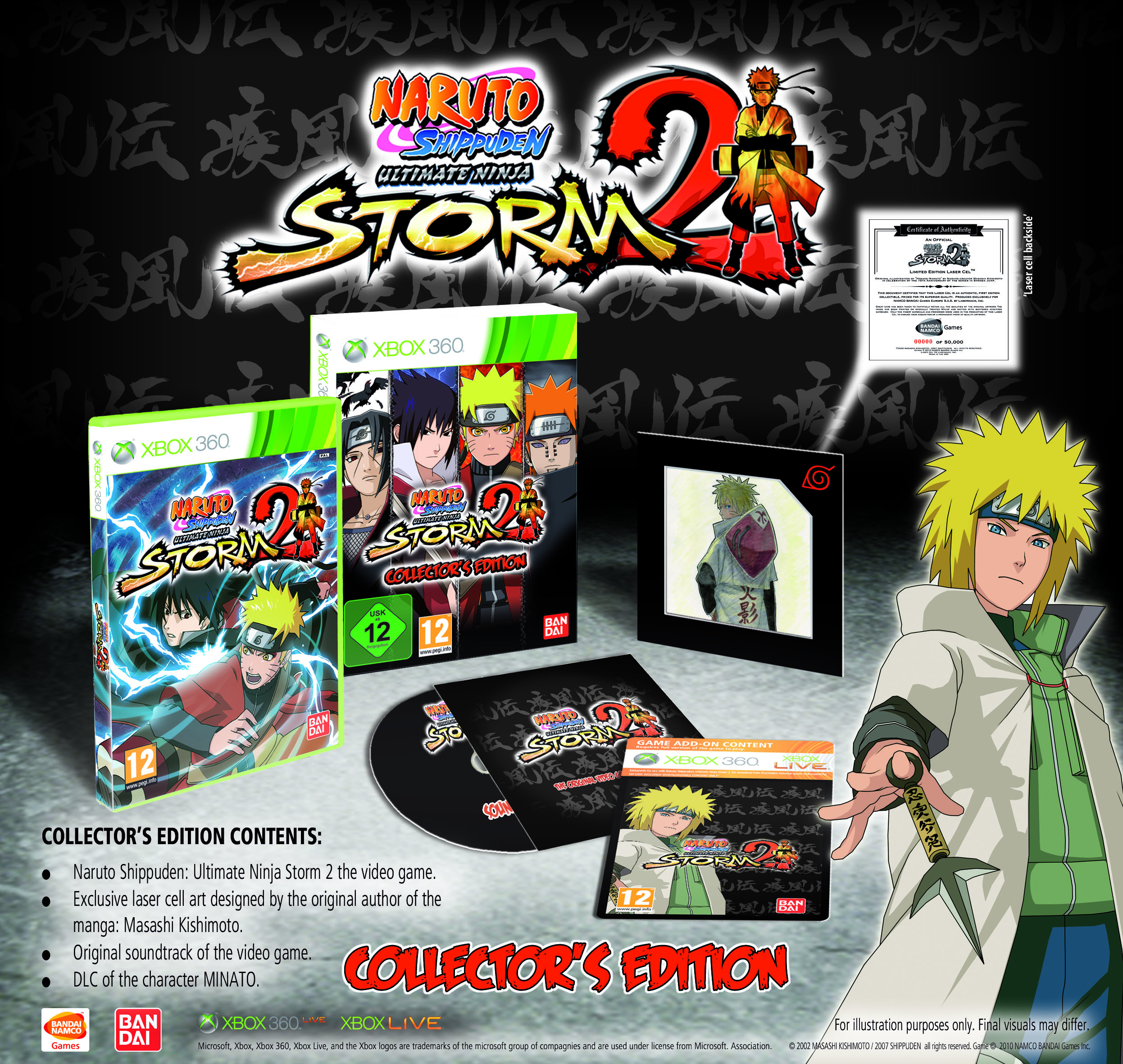 Naruto Shippuden Storm2 X360 collector Divers