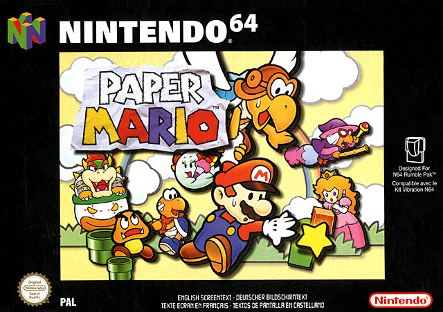 PaperMario N64 Jaquette