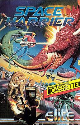 SpaceHarrier C64 Jaquette