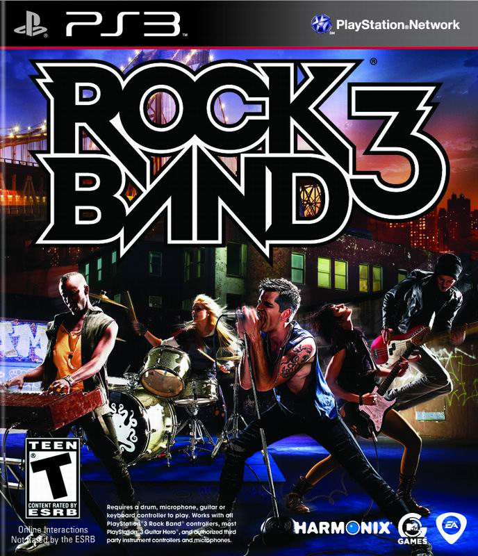 Rock Band 3 PS3 Jaquette