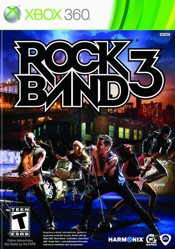 Rock Band 3 Xbox 360 Jaquette