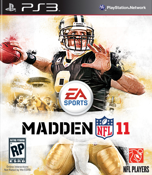 Madden NFL 11 Xbox PS3 Jaquette
