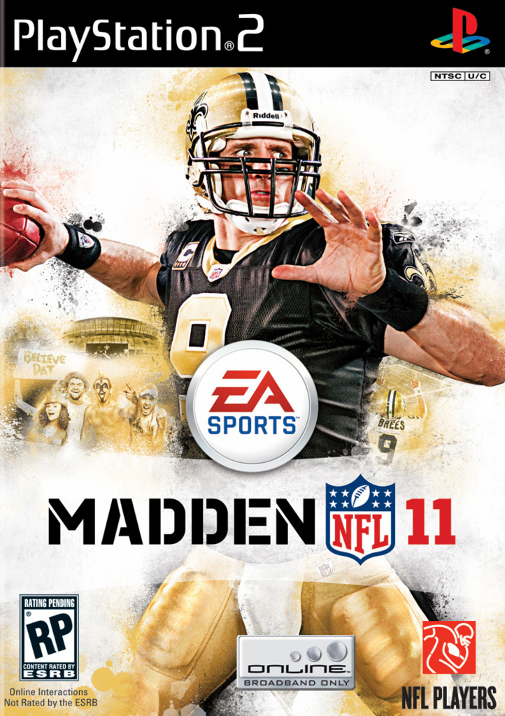 Madden NFL 11 Xbox PS2 Jaquette