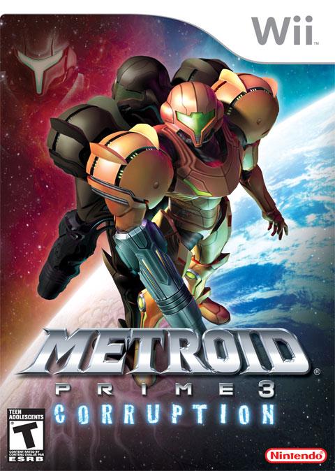 Metroid Prime3 Corruption Wii Jaquette