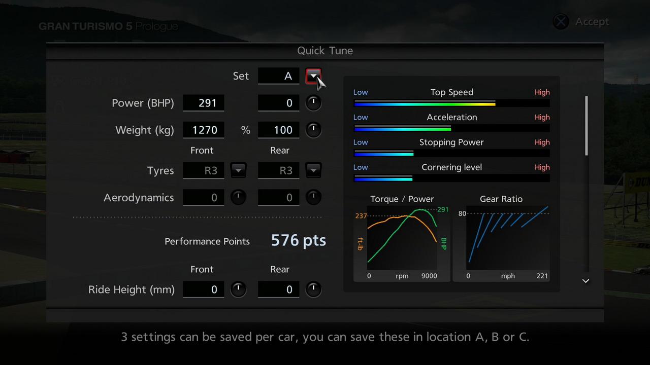 GT5 Prologue PS3 Editeur 279