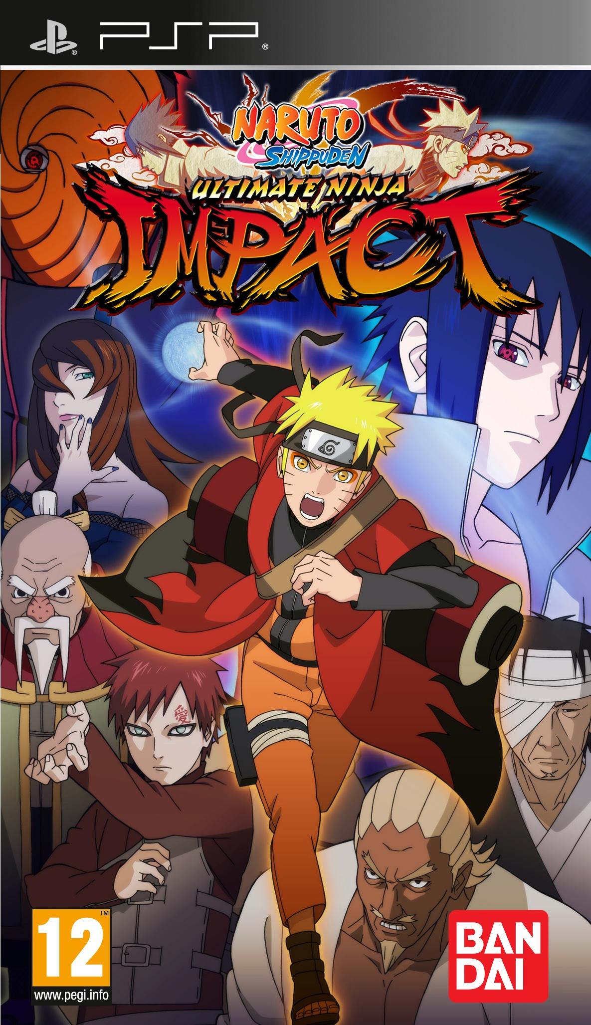 NarutoShippuden-UltimateNinjaImpact PSP Jaquette 002