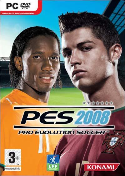 PES2008 PC jaquette