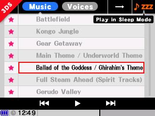 Choix musiques Super Smash Bros 3DS