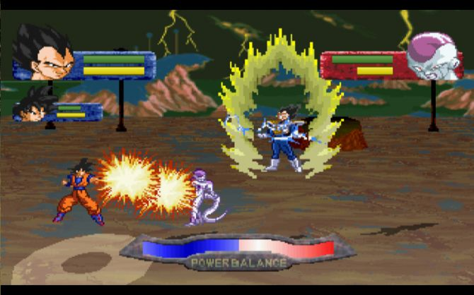 Dragon Ball Z Devolution - Jeux gratuits en ligne - Snokido