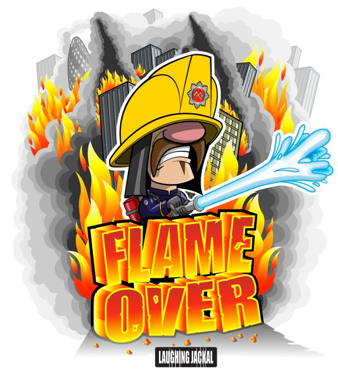Image Flame Over