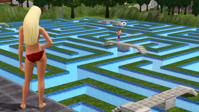 Test les sims 3 wii for Maison sims 4 piscine
