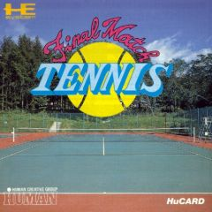 Jaquette de Final Match Tennis PC Engine