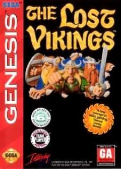 Jaquette de The Lost Vikings Mega Drive