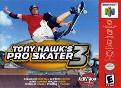 Jaquette de Tony Hawk's Pro Skater 3 Nintendo 64
