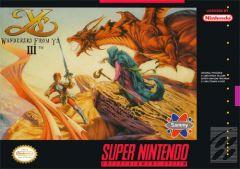 Jaquette de Ys III : Wanderers from Ys Super NES