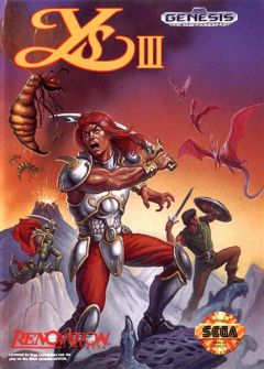 Jaquette de Ys III : Wanderers from Ys Mega Drive