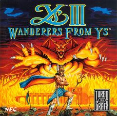 Jaquette de Ys III : Wanderers from Ys PC Engine