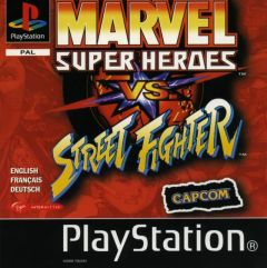 Jaquette de Marvel Super Heroes Vs Street Fighter PlayStation