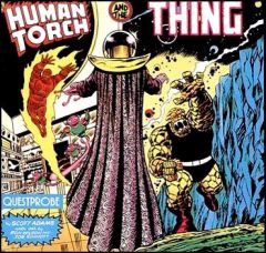 Jaquette de Questprobe featuring The Human Torch and The Thing Amstrad CPC