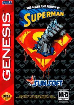 Jaquette de The Death and Return of Superman Mega Drive