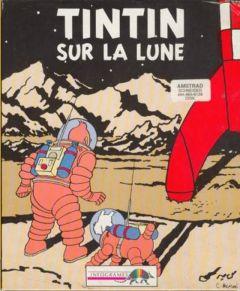 Jaquette de Tintin sur la Lune Amstrad CPC