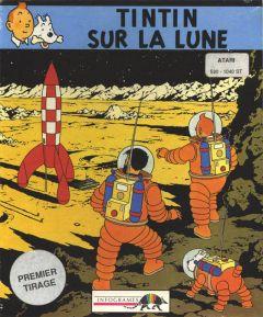 Jaquette de Tintin sur la Lune Atari ST