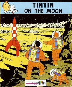 Jaquette de Tintin sur la Lune Commodore 64
