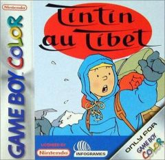 Jaquette de Tintin au Tibet Game Boy Color