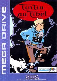 Jaquette de Tintin au Tibet Mega Drive