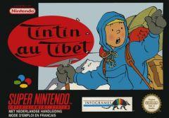 Jaquette de Tintin au Tibet Super NES