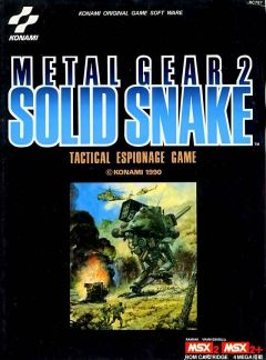 Jaquette de Metal Gear 2 : Solid Snake MSX2