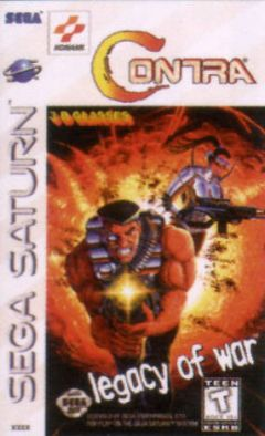 Jaquette de Contra : Legacy of War Sega Saturn