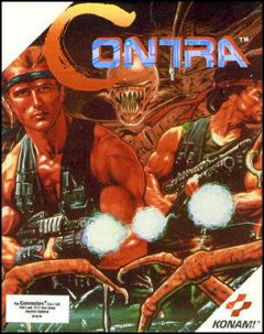 Jaquette de Contra (original) Commodore 64