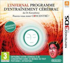 Jaquette de L'infernal Programme d'Entraînement Cérébral du Dr Kawashima : Pouvez-vous rester concentré ? Nintendo 3DS