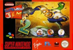 Jaquette de Earthworm Jim 2 Super NES