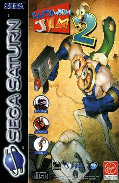 Jaquette de Earthworm Jim 2 Sega Saturn