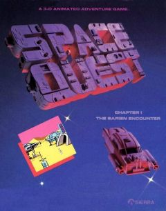 Jaquette de Space Quest : The Sarien Encounter Apple II
