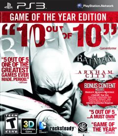 Jaquette de Batman : Arkham City - Game of the Year Edition PlayStation 3