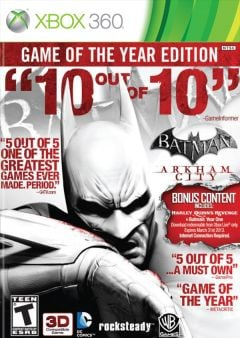 Jaquette de Batman : Arkham City - Game of the Year Edition Xbox 360