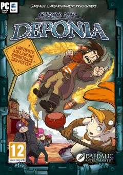 Jaquette de Chaos on Deponia PC