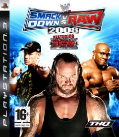 Jaquette de WWE Smackdown Vs. Raw 2008 PlayStation 3